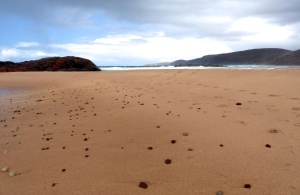 The pristine orange sands of the oft-titled 'UK's Best Beach'